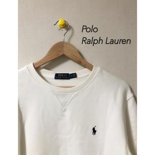 ポロラルフローレン(POLO RALPH LAUREN)のラルフローレン スウェット 白 古着(スウェット)