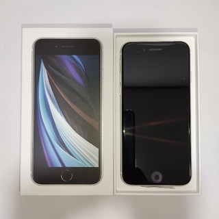 iPhone - 新型 iPhone SE 64GB 白 新品未使用 SIMフリー 利用制限○
