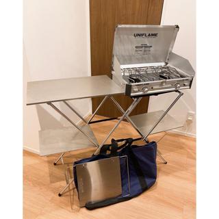 ユニフレーム(UNIFLAME)のユニフレーム ツインバーナー+キッチンスタンドII+センターラックセット(調理器具)