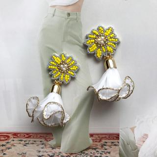 カスタネ(Kastane)のflower beaded tassel ピアス or イヤリング (ピアス)