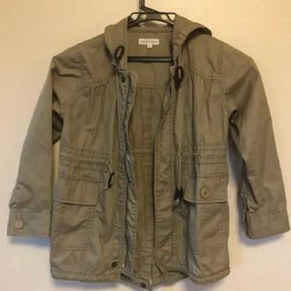 サンカンシオン(3can4on)のモッズコート ベージュ キッズ120センチ(ジャケット/上着)