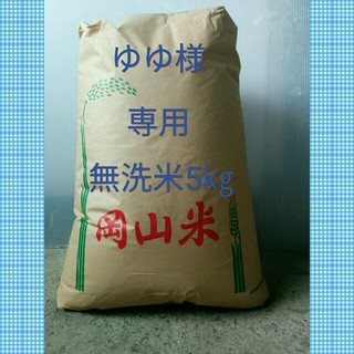 ゆゆ様専用無洗米5㎏ 食品/飲料/酒の食品(その他)の商品写真