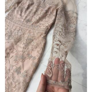 ビーシービージーマックスアズリア(BCBGMAXAZRIA)のbcbgmaxazria   gown 刺繍 ロング ワンピース(ロングワンピース/マキシワンピース)