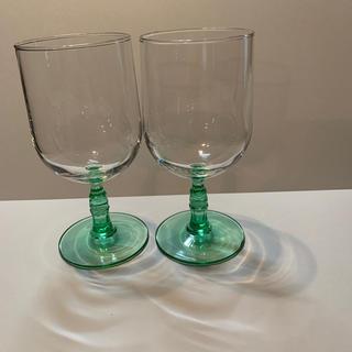 コカコーラ(コカ・コーラ)のコカコーラ グラス ゴブレット2個セット(ノベルティグッズ)
