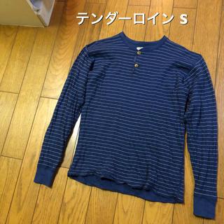 テンダーロイン(TENDERLOIN)のSサイズ!日本製 テンダーロイン 古着長袖ヘンリーネックTシャツ ロンT  (Tシャツ/カットソー(七分/長袖))