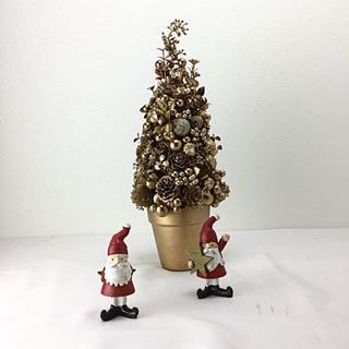 クリスマス ゴールドカラーのキラピカクリスマスツリー(その他)