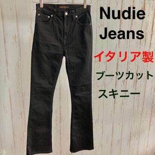 ヌーディジーンズ(Nudie Jeans)のヌーディージーンズ スキニー デニム ジーンズ ブラック イタリア製(デニム/ジーンズ)