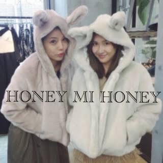 ハニーミーハニー(Honey mi Honey)のハニーミーハニー うさみみコート(毛皮/ファーコート)