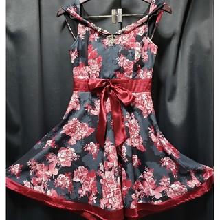 デイジーストア(dazzy store)のBayBClub ベイビークラブ 大人可愛いキャバドレス 花柄ドレスワンピース(ナイトドレス)