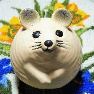 リサラーソン(Lisa Larson)の新品◆お顔の可愛い◆3匹のネズミ 人気の白 mus リサラーソン(置物)