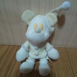 ディズニー(Disney)のホワイトミッキー(ブローチ/コサージュ)