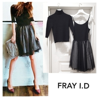 FRAY I.D - FRAY I.D ニット + チュールワンピース