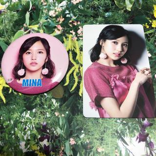 TWICE #TWICE3 ミナ MINA 缶バッジ トレカ(アイドルグッズ)