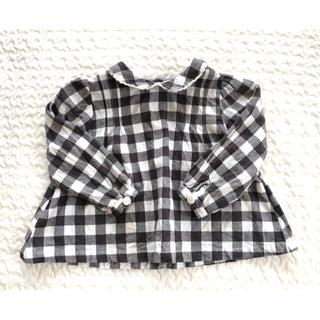 キャラメルベビー&チャイルド(Caramel baby&child )のlittle cotton clothes ブラウス 12-18m ギンガム(シャツ/カットソー)