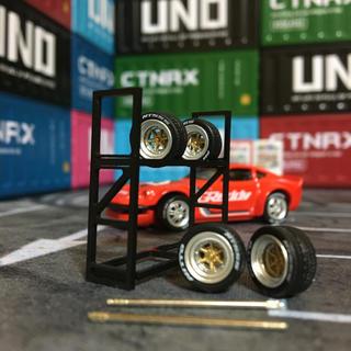 1/64 タイヤ&ホイールセットXR-4 Long champ XR-4