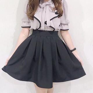evelyn - evelyn タックボリュームスカート 黒