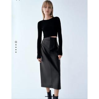 ZARA - 今季購入‼︎人気‼︎ZARA レザー風スカート