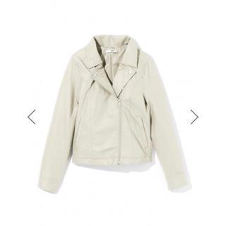 グレイル(GRL)のGRL ライダースジャケット アイボリー 新作 人気 韓国ファッション アウター(ライダースジャケット)