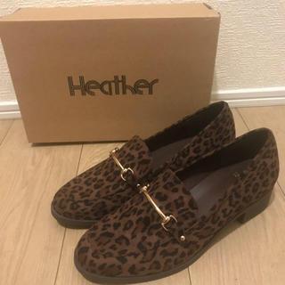 ヘザー(heather)のHeather*レオパード柄ローファー♡ローリーズファーム ページボーイ(ローファー/革靴)