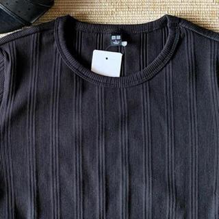 UNIQLO - ユニクロ Tシャツ ランダムリブクルーネックT(半袖)