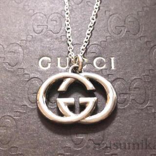 Gucci - GUCCI 正規品 インターロッキングG チャーム ネックレス