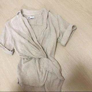 ZARA - ZARA カシュクールシャツ