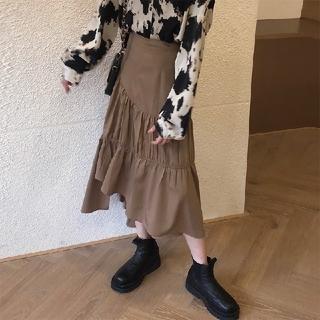 ZARA - 2カラー 秋冬 レトロ 不規則なスカート