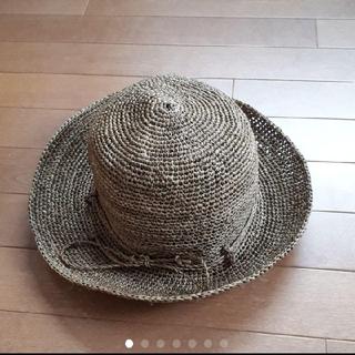 ムジルシリョウヒン(MUJI (無印良品))の無印良品 ラフィア 畳めるキャペリン ブラウン (麦わら帽子/ストローハット)