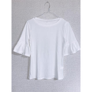 しまむら - カットソー トップス Tシャツ ホワイト
