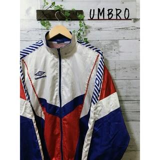 アンブロ(UMBRO)のUMBRO ポリエステル ジャケット トリコカラー(ナイロンジャケット)