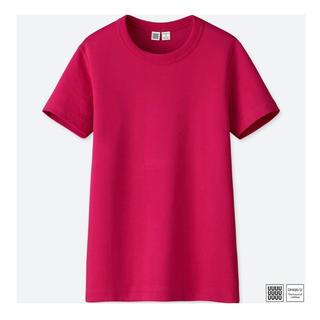 UNIQLO - UNIQLO ユニクロ Tシャツ 無地 ピンク
