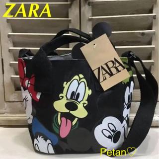 ZARA - ZARA♦ディズニー ミニショルダー♦ミニトート♦ブラック♦新品・タグ付き