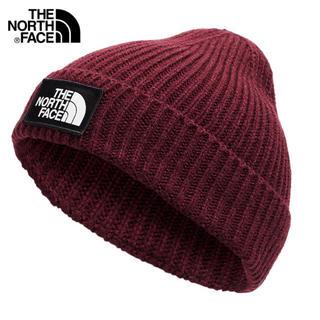 ザノースフェイス(THE NORTH FACE)のザ ノースフェイス  TNFロゴ ニット帽 レッド(ニット帽/ビーニー)