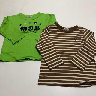 DOUBLE.B - ミキハウス DOUBL. B 長袖Tシャツ 2枚セット 100cm