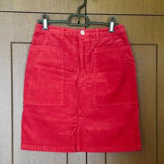 カスタネ(Kastane)のコーデュロイタイトスカート(ひざ丈スカート)