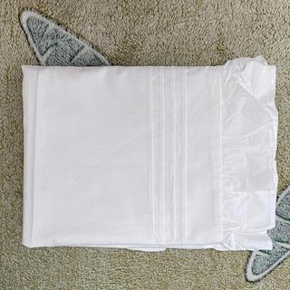 枕カバー ピローケース ホワイト 白 レースフリル シンプル 1個(枕)