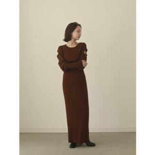 TODAYFUL - shoulder cut knit onepiece louren ワンピース