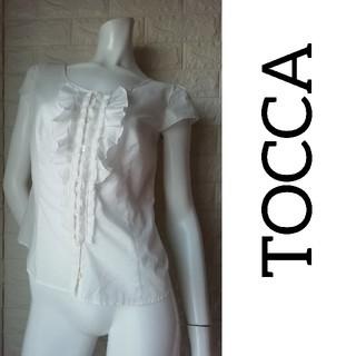 トッカ(TOCCA)の(M106)TOCCA トッカ レディース 白 トップス(シャツ/ブラウス(半袖/袖なし))