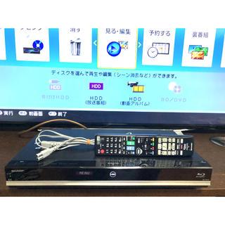 AQUOS - AQUOS BD-W570 W録HDD1TB換装 純正リモコン付