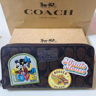 COACH - coach長財布 ディズニーコラボミッキーブラウン