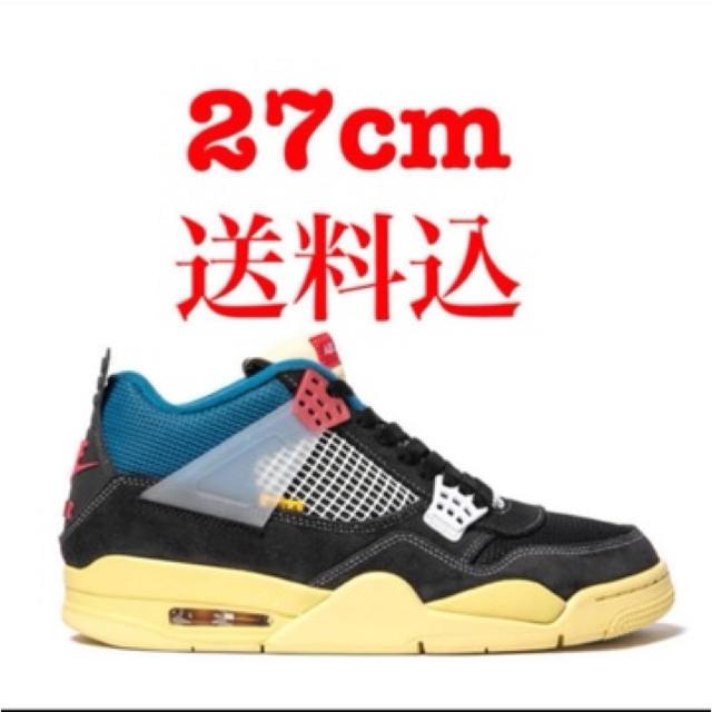 NIKE(ナイキ)のUNION × NIKE AIR JORDAN 4 Off Noir メンズの靴/シューズ(スニーカー)の商品写真