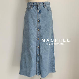 マカフィー(MACPHEE)のMACPHEE デニム ロングスカート(ロングスカート)