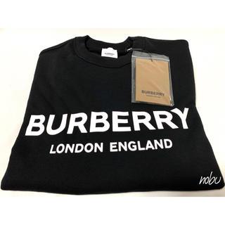 BURBERRY - 新品 20AW【 バーバリー 】ロゴプリント コットンスウェットシャツ M