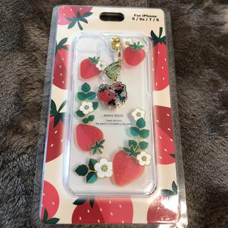 Disney - ミニー iphone7.8ケース いちご