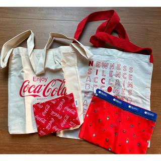 コカコーラ(コカ・コーラ)のショルダーバッグ・トートバック ④点セット 新品・未使用(トートバッグ)