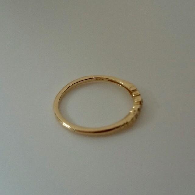 agete(アガット)のagete  K18 リング 0.08ct レディースのアクセサリー(リング(指輪))の商品写真