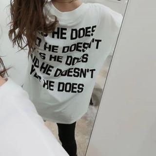 GYDA - GYDA 新品 quote logo Tシャツ ホワイト