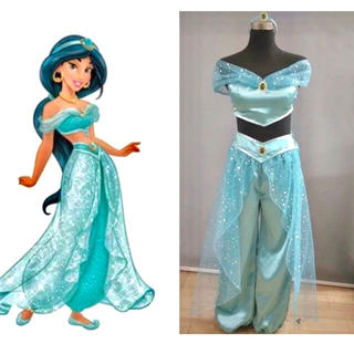 Disney - ジャスミン コスプレ ハロウィン 仮装 ディズニー レディース