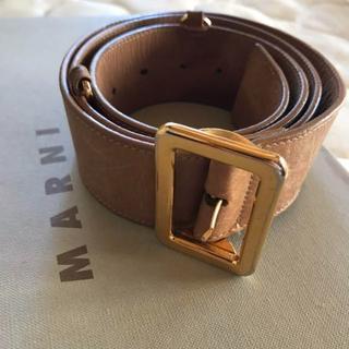 マルニ(Marni)のマルニ レザーベルト ライトブラウン 茶色 リング付き marni(ベルト)