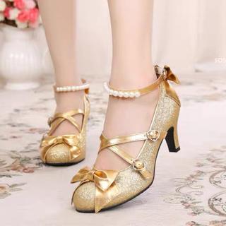 ロリータ  靴 太ヒール 結婚式(靴/ブーツ)